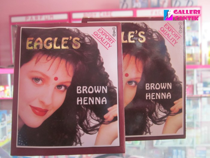 Jual Henna Cat Rambut Coklat Eagles S Brown Hena 10gr Galleri