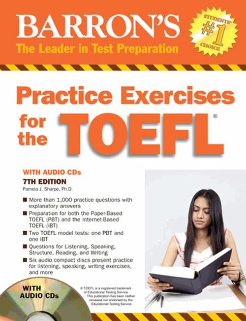 graphic about Toefl Exercises Printable known as Jual Barrons Coach Fitness for the TOEFL 7th Variation - Kota Malang - Toko Buku TOEFL Tokopedia