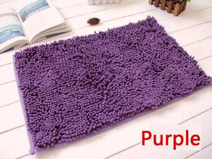 harga Keset cendol dof ungu 40 x 60 cm karpet bulu / doormat chenille purple Tokopedia
