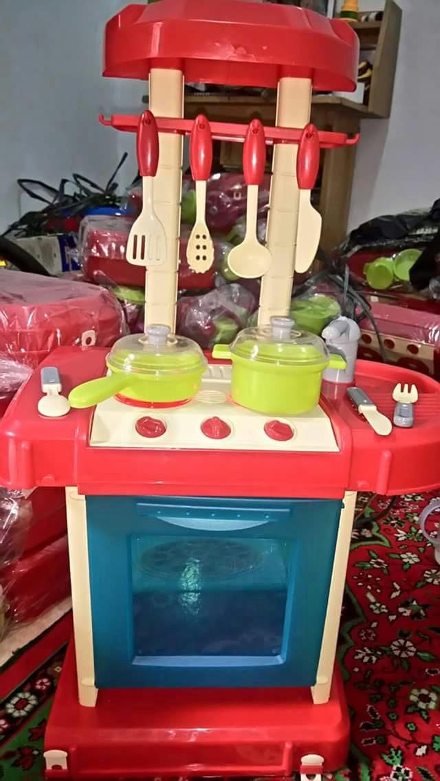 Jual Kitchen Set Koper Warna Merah Gerai Fatin Tokopedia