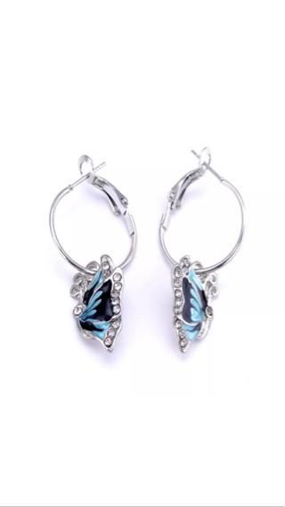 Anting Korea/Earings Korea Butterfly Crystal Blue
