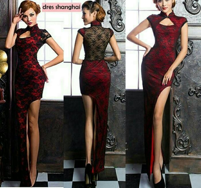 Jual Dress Pesta Elegan Shianghai Kota Bandung Fashion14 Tokopedia