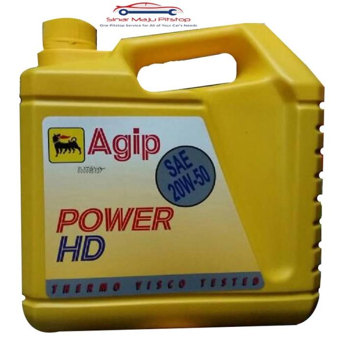 Oli Mobil Bensin Agip Power HD SAE 20W 50 4 Liter Original