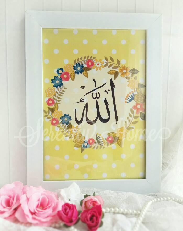 harga Poster / kaligrafi / wall decor islami shabby chic - allah 02 Tokopedia.com
