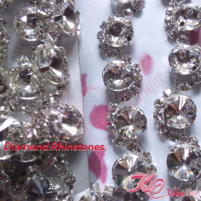harga Diamond rhinestones lusinan (bahan kerajinan / craft) Tokopedia.com
