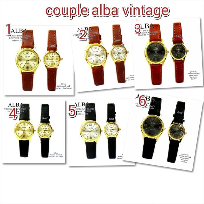 harga Jam tangan couple kulit allba vintage murah full set Tokopedia.com
