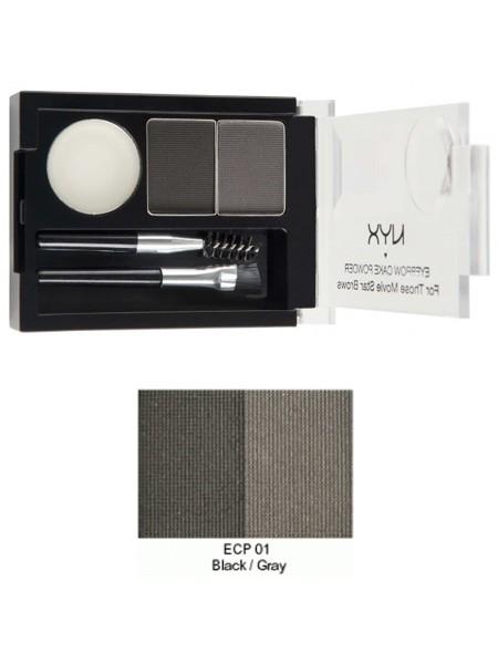 harga Nyx eyebrow cake powder black/gray ecp01 Tokopedia.com