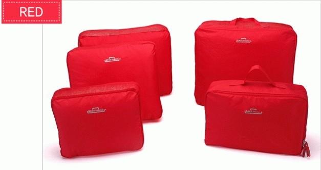 ... 5 in 1 bags in bag travelling dpt 5 bag travel organizer tas set Abu abu