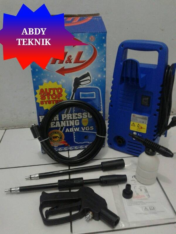 Review Mesin Cuci Mobil &motor High Pressure Jet Cleaner ABW