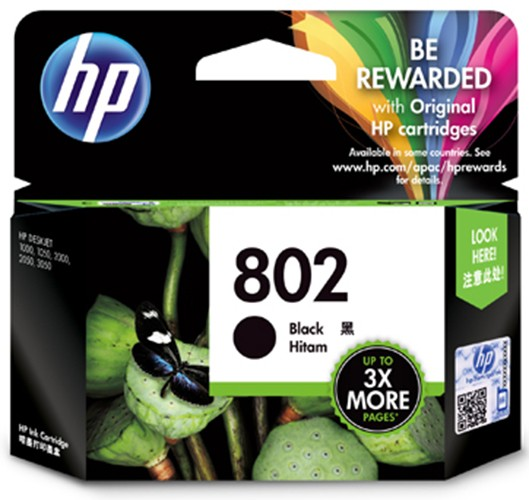 harga Cartridge hp 802 black printer hp 1000 1010 1050 1510 2000 Tokopedia.com