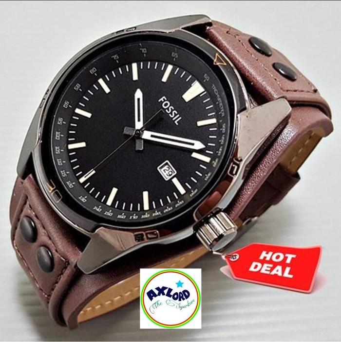 Jam Tangan Pria Fossil CB5 Leather Full Brown