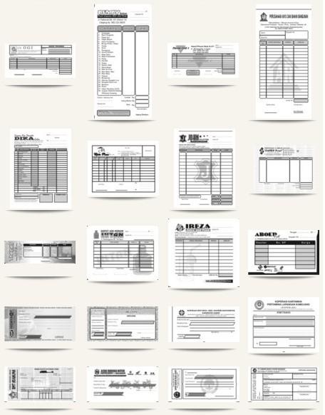 Paket DVD Design Kumpulan Koleksi Desain NOTA & KWITANSI