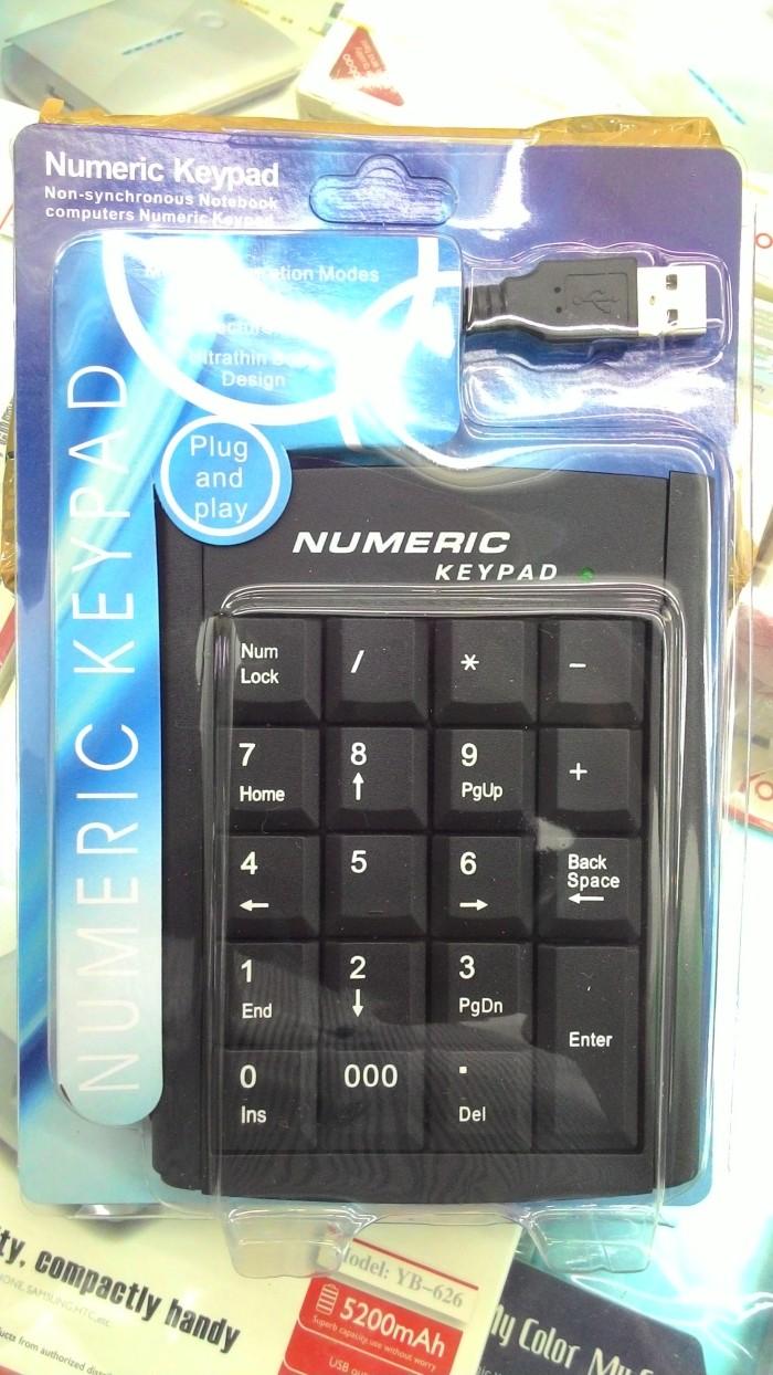 harga Keyboard numeric keypad untuk pc laptop dan notebook. plug n play Tokopedia.com