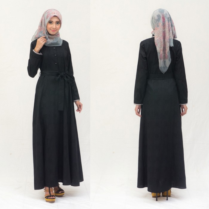 Jual Dress Formal Elegan Baju Muslim Kerja Wanita Dewasa