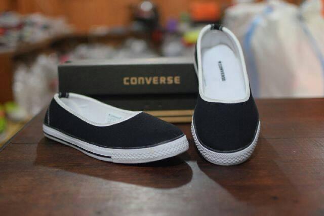 ... harga Sepatu casual wanita converse slip on slop hitam Tokopedia.com d47e13561b