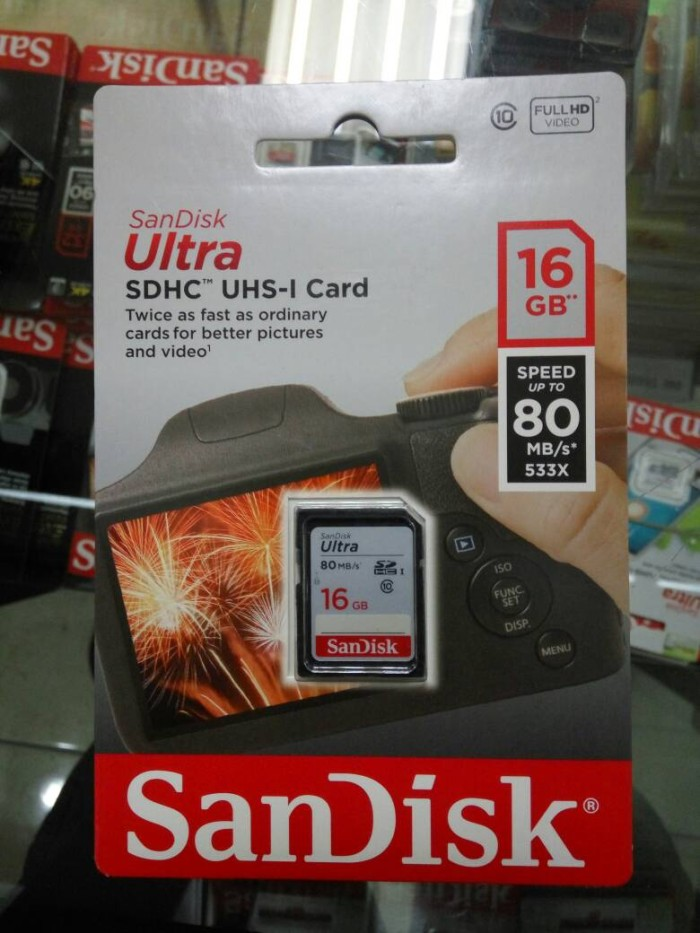 harga Sandisk ultra sdhc uhs-i card 16 gb speed up to 80 mb/s 533x Tokopedia.com