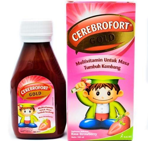 CEREBROFORT GOLD STRAWBERRY 100 ML