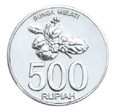 Gambar Uang Koin 500 Rupiah Jual Uang Koin Logam Pecahan Rp 500 Bunga Melati Tahun 2003