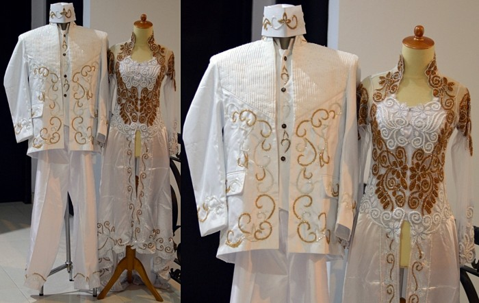 Jual Kebaya Pengantin Akad Nikah Putih Ekor Stelan Modern Muslimah Beskap Jakarta Timur New Store99 Tokopedia