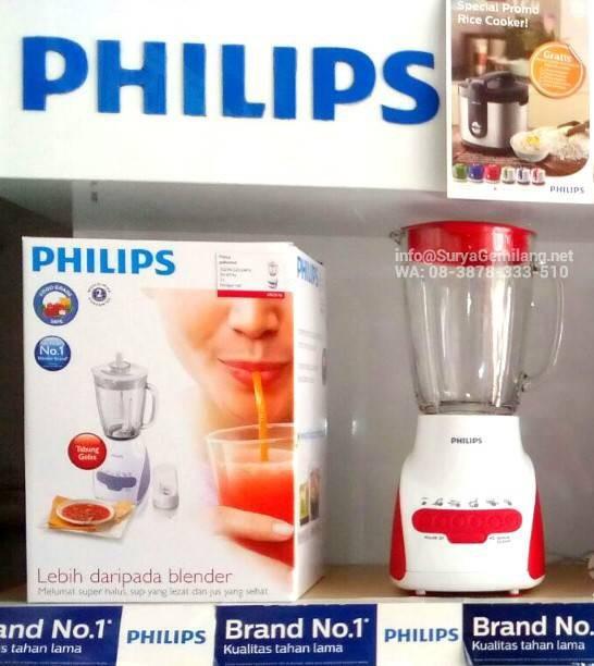 Jual Blender Philips HR2116 Merah Beling Pelumat Asli, Baru, Garansi Resmi  - DKI Jakarta - Surya Gemilang Toko | Tokopedia