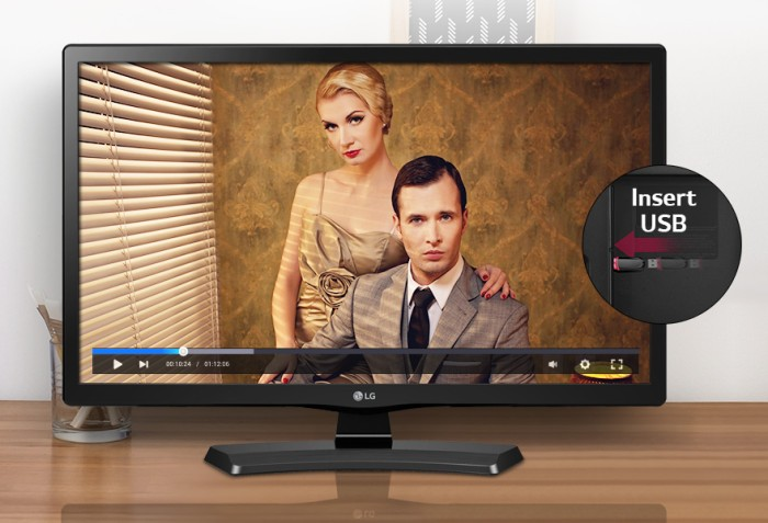 """LG 24"""" Monitor LED TV 24MT48AF-PT Full HD IPS Original"""