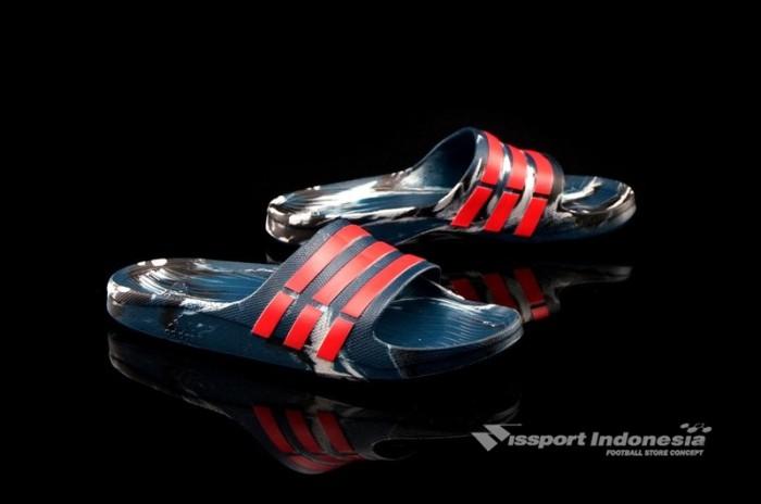 6c3c8a778fa0 Jual Sandal Adidas Duramo Slide Marble Navy Red AQ5257 ASLI MURAH ...