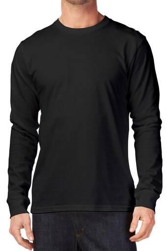 Jual Kaos Polos O Neck Lengan Panjang Hitam Size S Jakarta Barat Tees Shirt Tokopedia