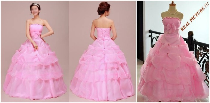 Jual Gaun Pengantin Import Ball Gown Modern Organza Wedding Dress Terbaru Jakarta Timur Female Shops Tokopedia