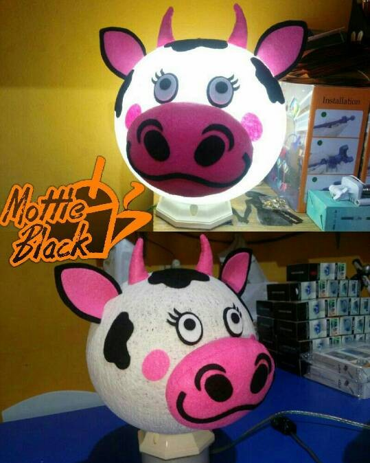 harga Lampion benang karakter  lampu tidur sapi cow Tokopedia.com