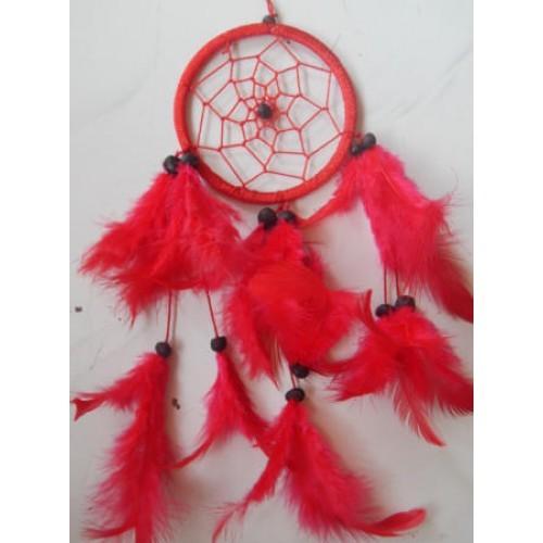 Foto Produk Dreamcatcher 9 cm warna merah cerah dari Jnanacrafts