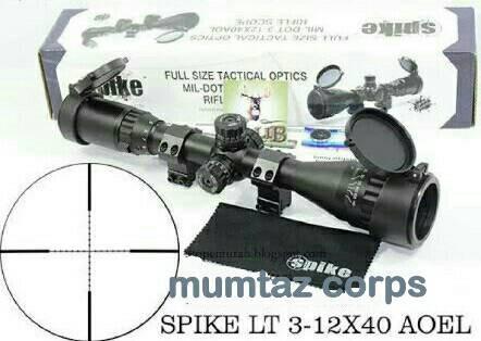 harga Telescope senapan angin spike lt 3-12x40aoel full tactical optics Tokopedia.com