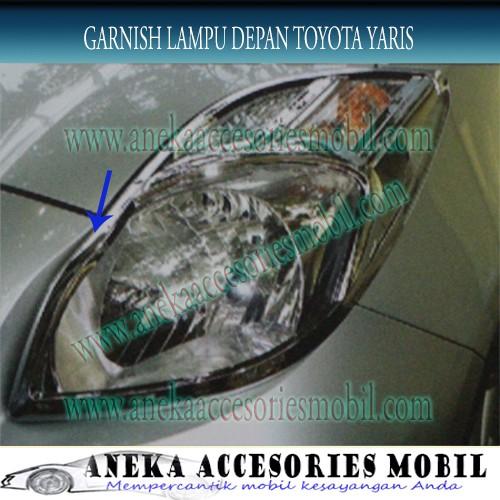 harga Garnish lampu depan/front/head lamp/light garnish mobil toyota yaris Tokopedia.com