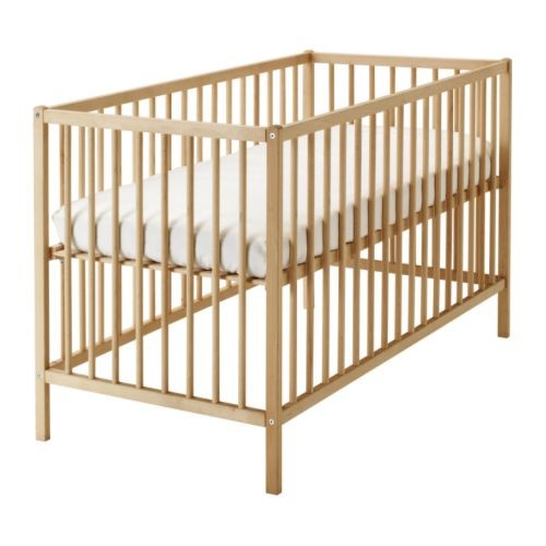 Ikea sniglar ranjang / box bayi, kayu beech, 60x120 cm