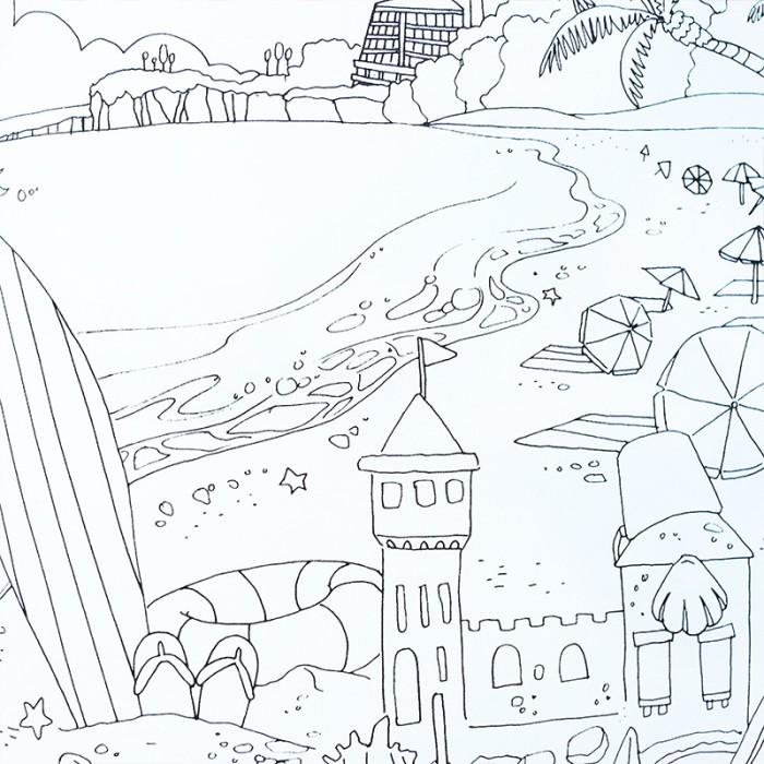 Jeju Island Tour Coloring Book