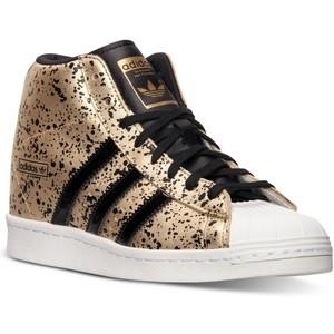adidas superstar high gold