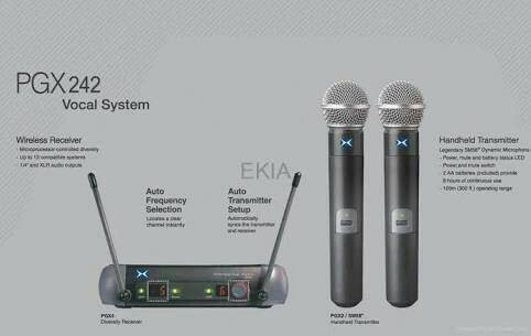 harga Murah !!! mic microphone professional shure wireless pgx- 242 handheld Tokopedia.com