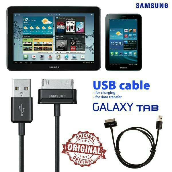Foto Produk Kabel Charger/Kabel Data Samsung Galaxy Tab 1, 2, 3 (original 100% dari snj shop