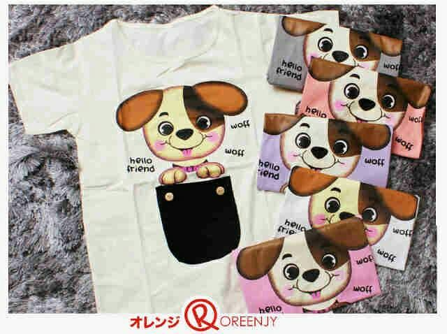 harga Kaos standard fit m little puppy oreenjy Tokopedia.com