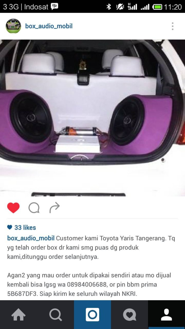 Jual Box Custom Audio Toyota Yaris Kota Semarang Prima Jaya Audio Creativ