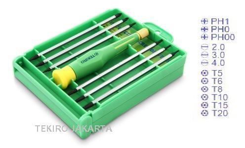 harga Tekiro obeng presisi kacamata hp jam - precision screwdriver 12in1 set Tokopedia.com