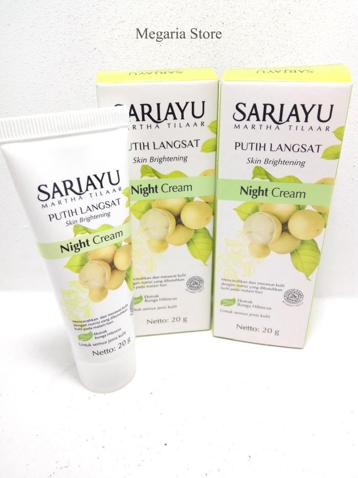 Sariayu Night Cream Putih Langsat 20gr