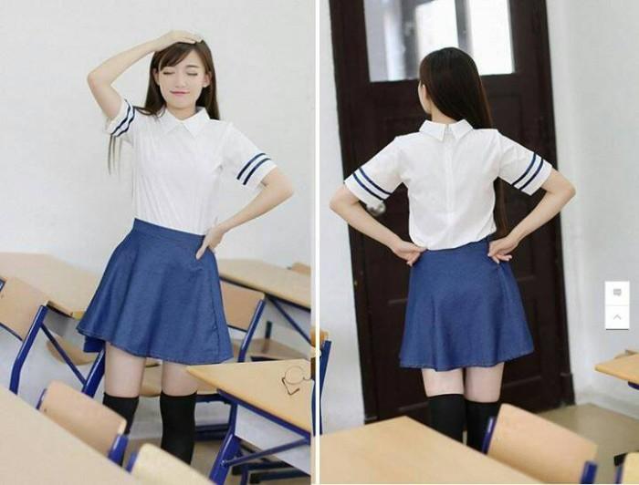 Jual Set Seifuku Baju Kemeja Rok Sailor Seragam Sekolah Jepang