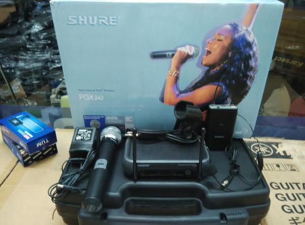 harga Microphone mic shure wireless pgx 242 mic pegang dan clip on + headset Tokopedia.com