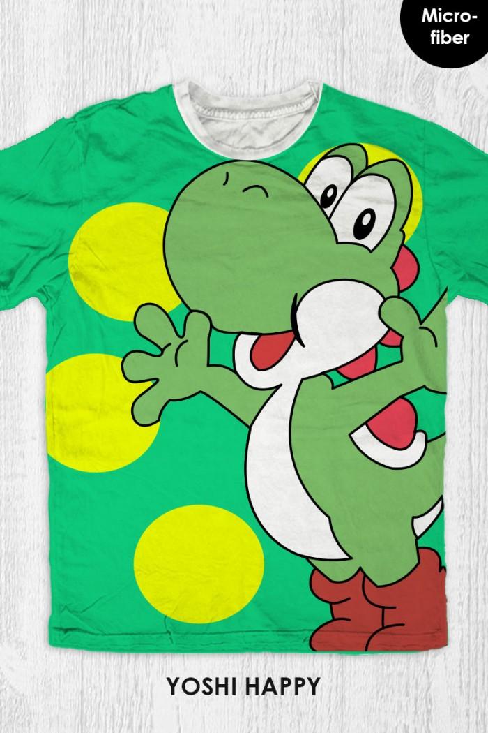 harga Kaos super mario bros anak / dewasa - yoshi happy Tokopedia.com