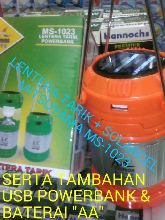 harga Lentera tarik & powerbank + solarcel mitsuyama ms-1023 Tokopedia.com