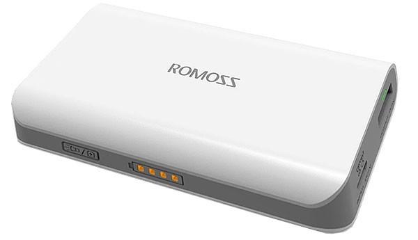 Romoss Solo 3 6000mAh White Powerbank | 6000 mAh Power Bank Putih