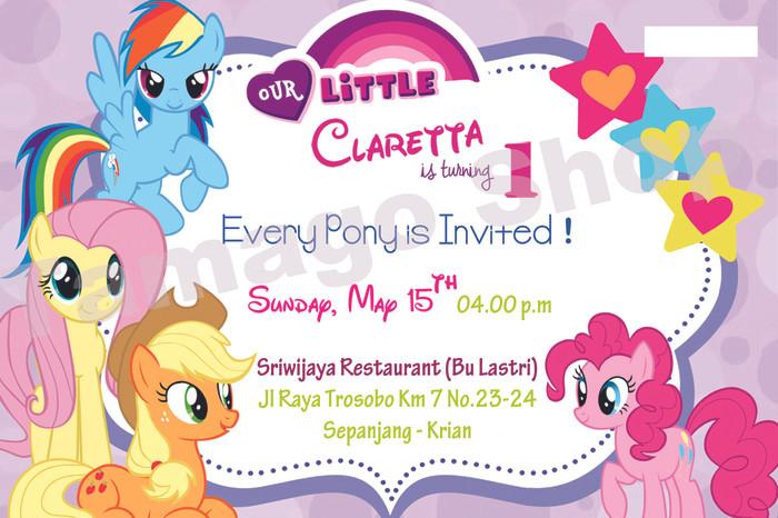 Jual Invitation Undangan Ulang Tahun Little Pony Lp1 Kab Sidoarjo Tamago Shop Surabaya Tokopedia