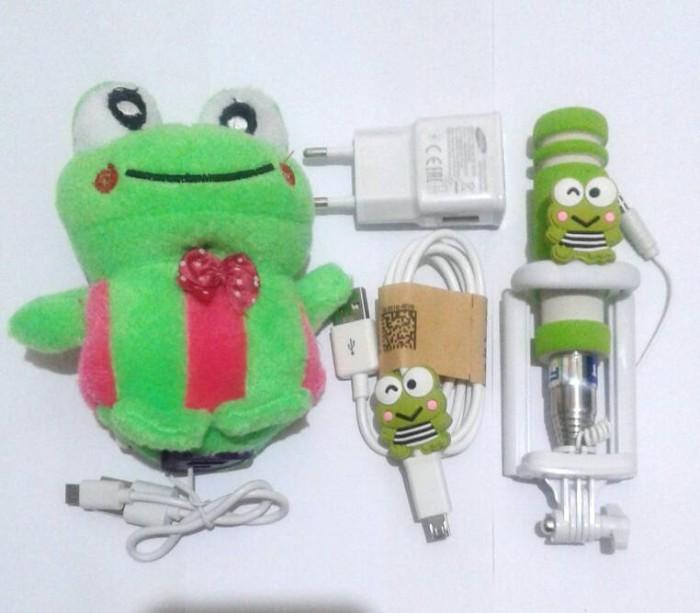 harga Paket hemat special keropi ^ tongsis charger samsung & powerbank Tokopedia.com