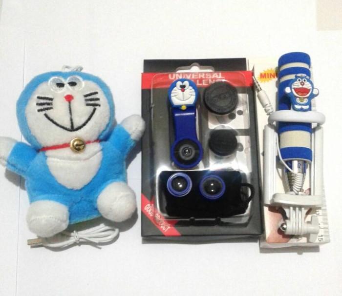 Paket selfie special doraemon ^ tongsis lensa fisheye powerbank ...