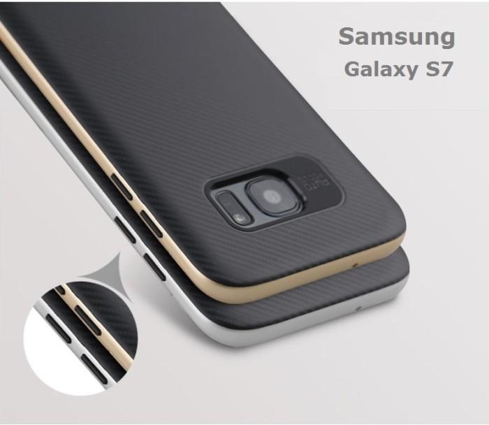 cheap for discount 8cbe5 11734 Jual Case Spigen Samsung Galaxy S7 Flat Neo hybrid Carbon Samsung S7 datar  - Kab. Banjarnegara - ipartsstore | Tokopedia